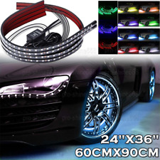 4pcs Multicolor LED Neon Glow Strip Under Light Tube Underbody Kit Fit Porsche