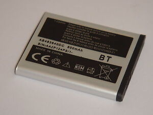 AB483640BE NEW Replacement Battery For Samsung S8300 C3050 J600 B3210 E200 E830