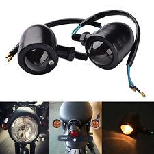2x Motor Bike LED Turn Signals Mini Bullet Blinker Indicator Lights Lamp BL-B