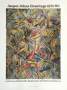 Jasper Johns – Drawings 1970-80 Exhibition Poster