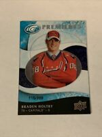 2009-10 Upper Deck Ice Premiers Rookie Card #142 Braden Holtby RC /999