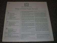 Music Of Daily Prayer Services Lutheran Book Of Worship~Religious~Robert Schultz