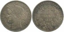 Pièces de monnaie françaises de 5 francs 5 francs en argent, sur Cérès
