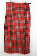 CLANCLIR Tartan Check Kilt Skirt Size Uk 22