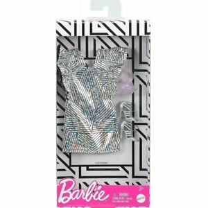Barbie Doll Clothes, Fashionistas Dress Shiny Ruffles, Mattel Barbie Clothes