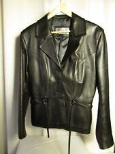 veste/blouson GIORGIO cuir noir d'agneau 42/44