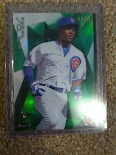 +++ JORGE SOLER 2015 GREEN REFRACTOR #'D BASEBALL CARD #37 - CHICAGO CUBS +++