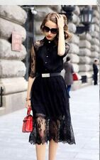 Lace Collared Petite Dresses for Women