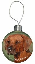 Rhodesian Ridgeback 'Love You Mum' Christmas Tree Bauble Decoration, AD-RR1lymCB