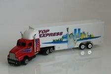 """Top Express Tractor Trailer, Semi Truck Diecast Model, NYC, Statue of Liberty 7"""""""