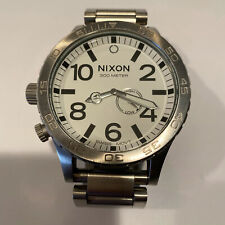 Nixon Simplify 51-30 Chrono Tide Stainless Steel Men's Watch 51mm A057-100 NWOB