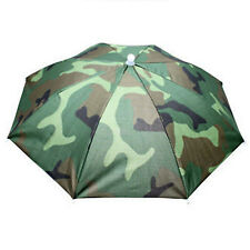 Outdoor Sun Umbrella Hat Golf Fishing Camping Headwear Cap Head Hat Foldable SF
