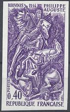 PHILIPPE AUGUSTE N°1538 ESSAI COULEUR NON DENTELÉ VIOLET PROOF 1967 NEUF ** MNH