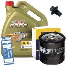 Ölwechsel Set 5L 5W30 Öl Motoröl CASTROL + HENGST Ölfilter + Ablassschraube