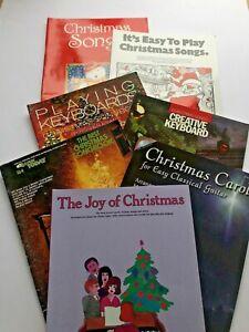Christmas Songs Book Bundle for Keyboard Piano Guitar Carols Hymns x 7     B11