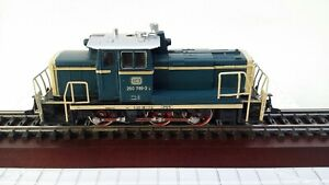 MÄRKLIN HO Nr. 3141- Diesellok BR 260 789-3 blau/beige DB, gebraucht..