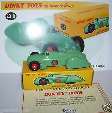 DINKY TOYS ATLAS AUTO-UNION VOITURE DES RECORDS VERTE 1/43 REF 23D IN BOX