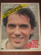 GAZZETTA DELLO SPORT 1978 BETTEGA BEARZOT JUVE TORO @