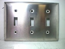 P&S Smooth 302SS Stainless Steel 3 Gang Toggle Wall Plate SS3. New in Bag !!!