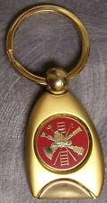 Engraveable 2 tone brass key ring Fire Fighter NEW
