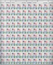 United States # 1338 D E 6 cents Sheet Major Error MNH Horizontal Imperfs