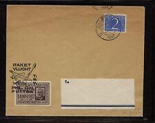 Netherlands  rocket flight cover 1947  Roosevelt stamp          MS0606