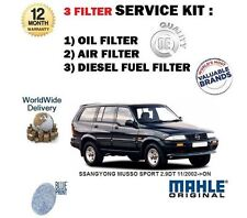 FOR SSANGYONG MUSSO SPORT  2.9DT 11/2002->ON  OIL AIR FUEL FILTER SERVICE KIT