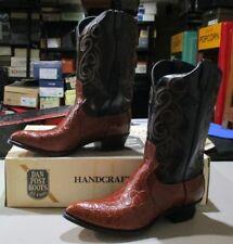 New ALLIGATOR/leather Dan Post #16938 15 D honey/black (491B)