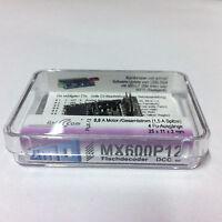ZIMO MX600P12 - Flachdecoder mit 12-pol.PluX Schnittstelle