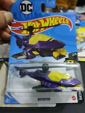 Hot Wheels~ Batman: Batcopter~ 2019~Die-Cast~ #2/5~ 1;64~ Purple~ Brand New!~NM-