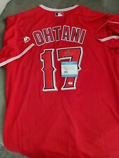 AUTOGRAPHED SHOHEI OHTANI ANGELS RED MLB JERSEY WITH COA!