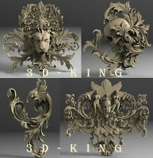 STL 3D Models # 4 DECORATIVE PATTERNS # for CNC 3D Printer Engraver Carving