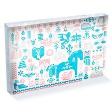 "Swedish Dala Horse Photo Block 6 x 4"" - Desk Art Office Gift #12363"