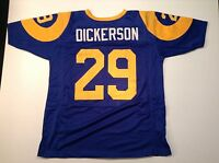 UNSIGNED CUSTOM Sewn Stitched Eric Dickerson Blue Jersey - M, L, XL, 2XL