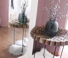 Amaris Elements | Holz Schale Vintage Landhausstil rund 60x6cm Teakholz braun