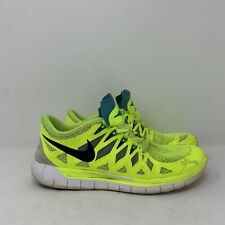 Women's Nike Free 5.0 Bright yellow (Volt) running shoes Neon size 8