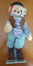 """Vintage 1993 Annette Funicello 12"""" Saddling Up Bear Cowboy Scrapbook Collection"""