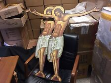 Orthodox Christ Canvas On Wood Christian Christ Body 100x90cm