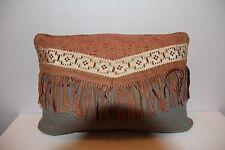 Croscill TUSCON Arizona Southwest Aztec rectangle Fringe Pillow NWT