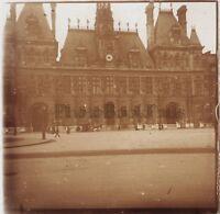 Hotel De Ville De Paris Foto Stereo Lente Positive Vintage
