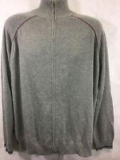Gap Zip Cardigan 100% Cotton Sweater Gray Men's XL Mock Neck