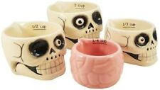 Halloween Haunted Skull and Brains Nesting Measuring Cup Set of 4