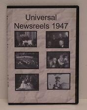Universal Newsreels 1947 DVD FREE SHIPPING!!