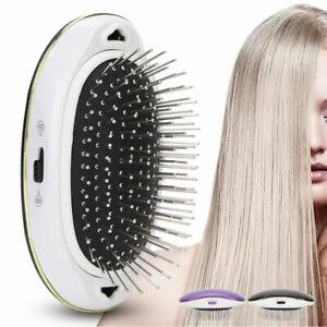Portable Electric Ionic Hairbrush Anti-static Mini Ion Hair Brush Massager Comb
