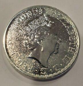 2016 1oz Silver Britannia 2 British pounds w/queen profile uncirculated