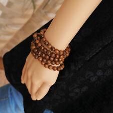 Hot Wenge Prayer Beads Tibetan Buddhist Mala Buddha Bracelet Rosary Wooden