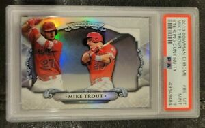 2018 Bowman Chrome Mike Trout Sterling Continuity PSA 9