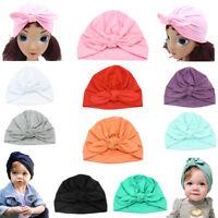 Baby Turban Headwraps Knot Girl 100% Headbands Cute Newborn Full-head Cotton
