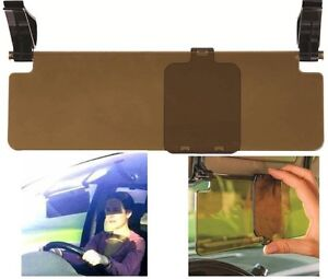 Car Sun Visor Extension Clip on Glare Reducer Tinted Perpsex with Slider Panel
