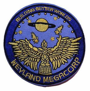 ALIEN MOVIE Weyland Megacorp Logo Iron-on/Sew-on Embroidered PATCH 4""